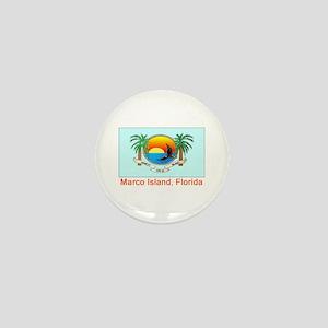 Marco Island FL Flag Mini Button