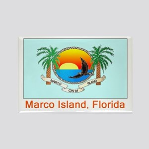 Marco Island FL Flag Rectangle Magnet