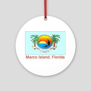 Marco Island FL Flag Ornament (Round)
