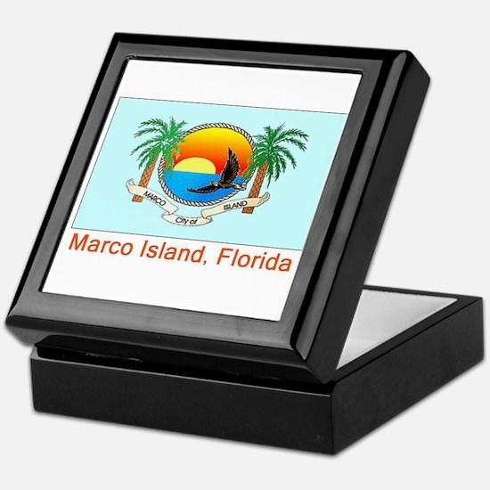 Marco Island FL Flag Keepsake Box