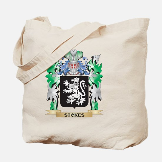 Stokes Coat of Arms - Family Crest Tote Bag