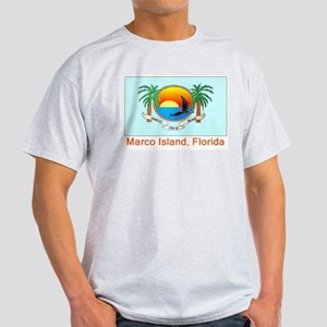 Marco Island FL Flag Light T-Shirt