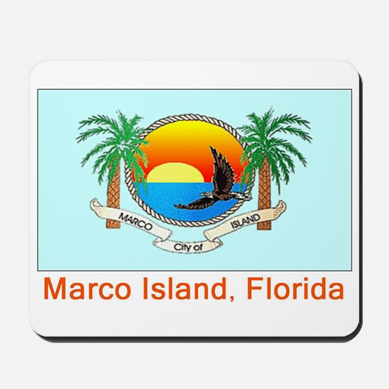 Marco Island FL Flag Mousepad