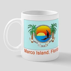 Marco Island FL Flag Mug