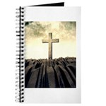 Christian Cross On Mountain Journal