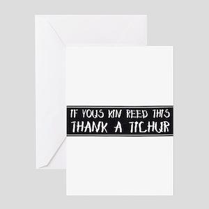 Thank A Teacher Greeting Card