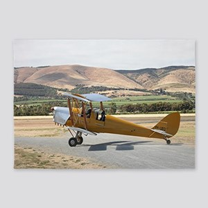 Tiger Moth aircraft taxiing 5'x7'Area Rug