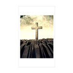 Christian Cross On Mountain Sticker