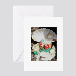 Gnome and shell Greeting Cards