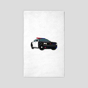 Police Car Area Rug