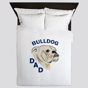 Bulldog Dad Queen Duvet