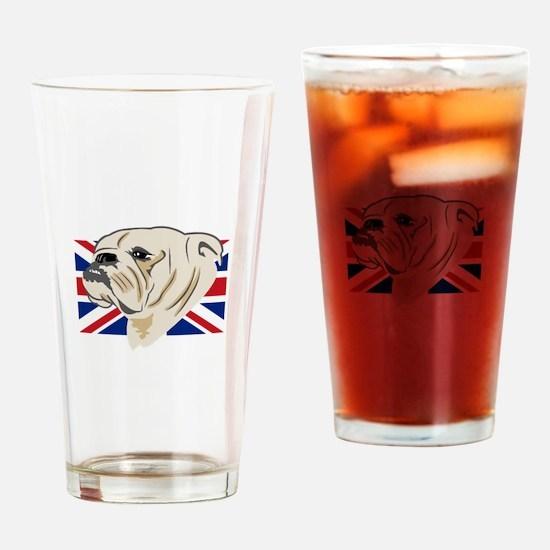 English Bulldog Drinking Glass