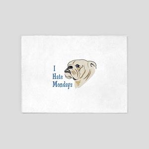 I Hate Mondays 5'x7'Area Rug