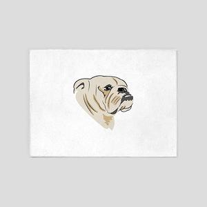 Bulldog Face 5'x7'Area Rug