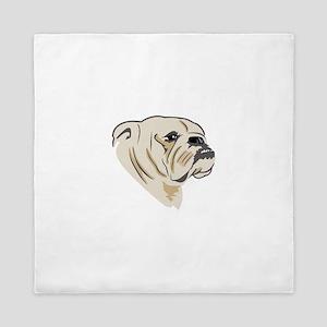 Bulldog Face Queen Duvet