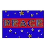 PEACE with stars Postcards (Package of 8)