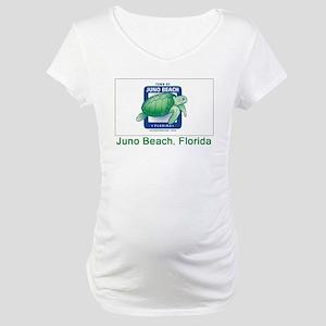 Juno Beach FL Flag Maternity T-Shirt