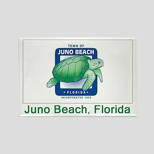 Juno Beach FL Flag Rectangle Magnet