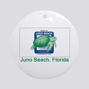 Juno Beach FL Flag Ornament (Round)