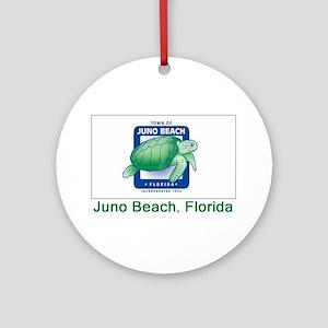 Juno Beach FL Flag Ornament (Round)