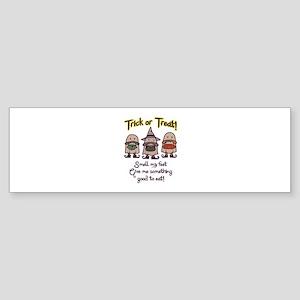 Trick Or Treat Bumper Sticker