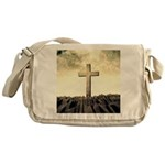 Christian Cross On Mountain Messenger Bag