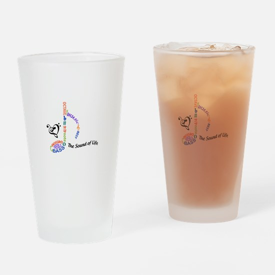 The Sound Of Llife Drinking Glass