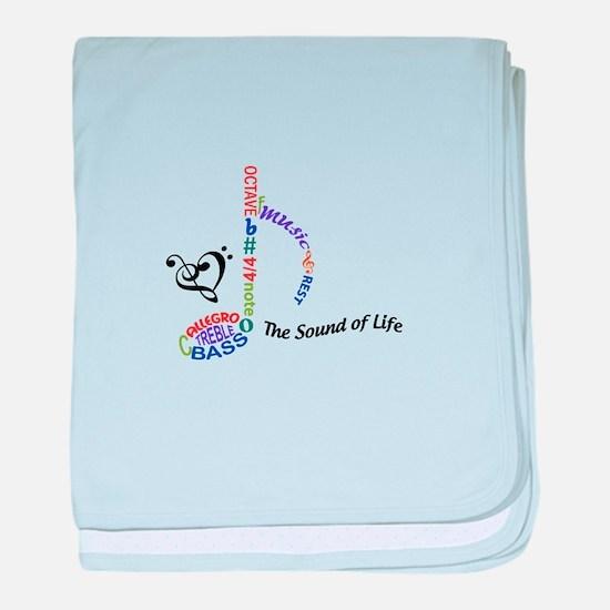 The Sound Of Llife baby blanket