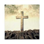 Christian Cross On Mountain Queen Duvet