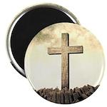 Christian Cross On Mountain Magnets