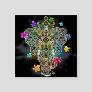 Elephant Zentangle Doodle Art Sticker