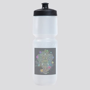 Elephant Zentangle Doodle Art Sports Bottle