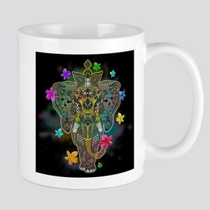 Elephant Zentangle Doodle Art Mugs