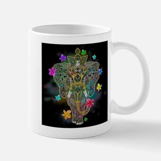 Elephant Zentangle Doodle Art Mugs