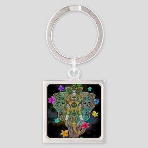 Elephant Zentangle Doodle Art Keychains