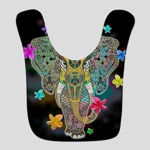 Elephant Zentangle Doodle Art Bib