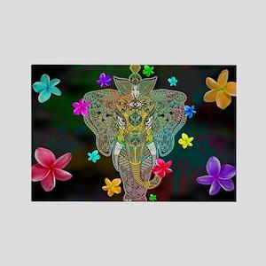 Elephant Zentangle Doodle Art Magnets