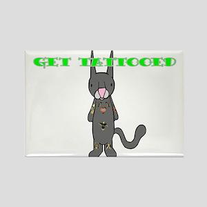 Zero Kitten Tat2 Rectangle Magnet
