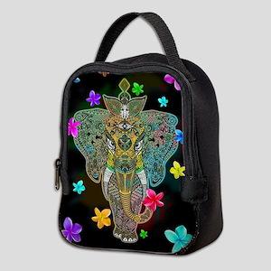 Elephant Zentangle Doodle Art Neoprene Lunch Bag