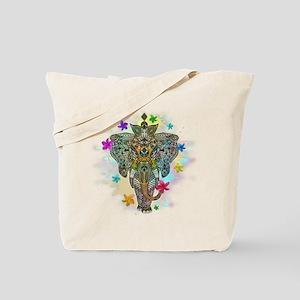 Elephant Zentangle Doodle Art Tote Bag