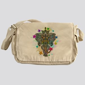 Elephant Zentangle Doodle Art Messenger Bag