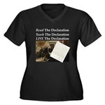 Read/Learn/Live The Declaration Plus Size T-Shirt