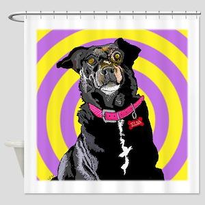 Hypno Doggie Shower Curtain