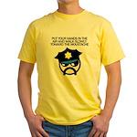 Walk Toward the Moustache Yellow T-Shirt