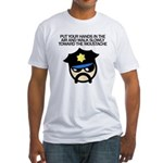 Walk Toward the Moustache Fitted T-Shirt