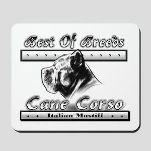 Cane Corso BW Mousepad