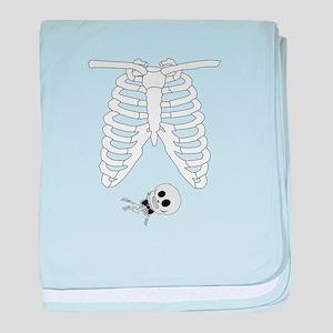 Maternity Skeleton Shirt baby blanket