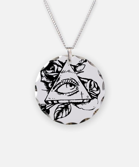 triangle all seeing eye Necklace