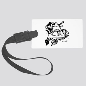 triangle all seeing eye Large Luggage Tag