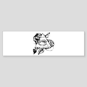 triangle all seeing eye Bumper Sticker